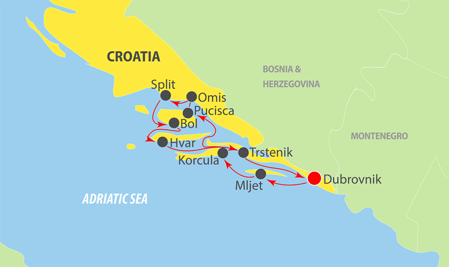 K200 - Adriatic Cruise Map