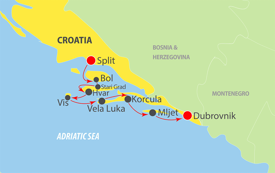 Adriatic cruise aboard ms prestige k201sd k201sd adriatic cruise map publicscrutiny Images
