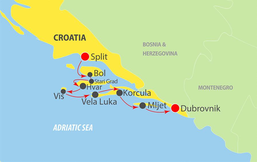 K201SD - Adriatic Cruise Map