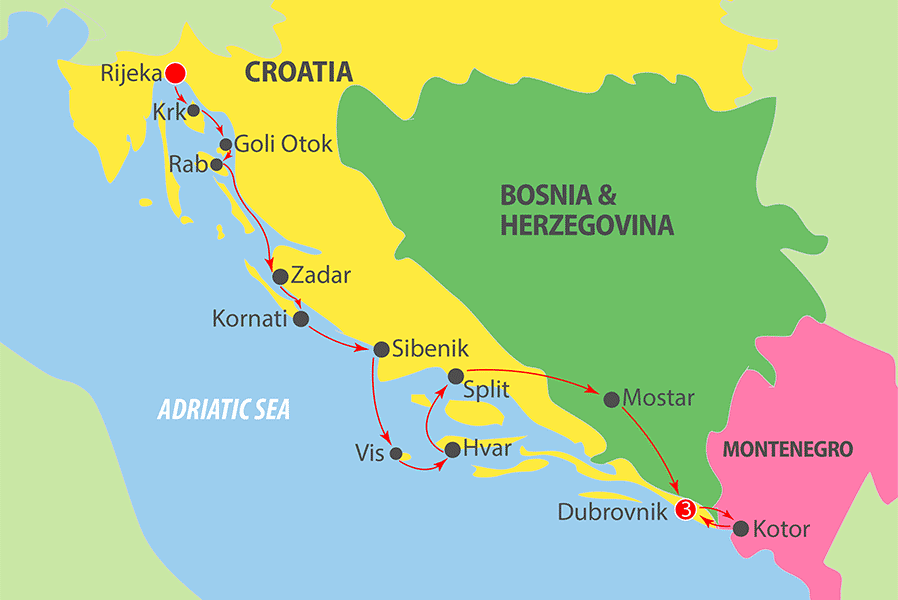 K249 Adriatic Cruise Map