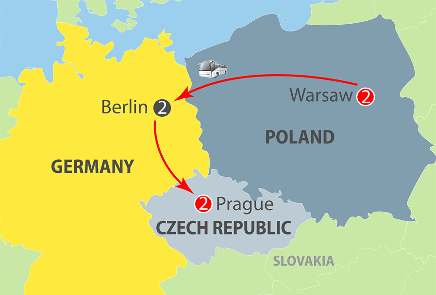 Warsaw, Berlin and Prague Escorted Tour