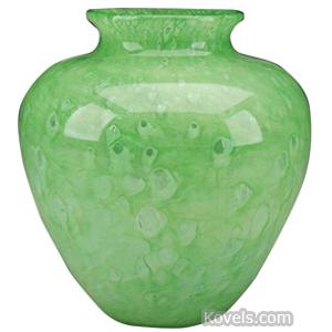 Cluthra Vase Urn Shape Lime Green Ground Pontil | Kovels' Price Guide