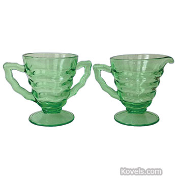 Antique Depression Glass Glass Price Guide Antiques Beauteous Green Depression Glass Patterns