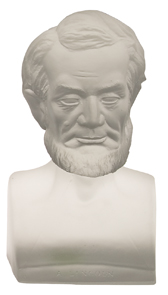 Gillinder Bust Lincoln Frosted Embossed A Lincoln Centennial Exhibition