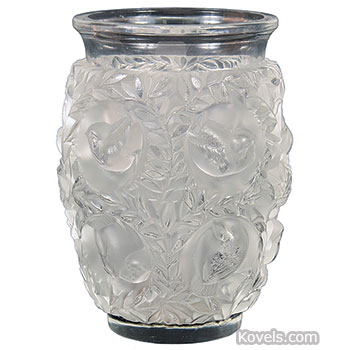 lalique vase bagatelle lovebirds - Lalique Vase