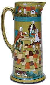 Buffalo pottery Tankard The Great Controversy Stiner 1908 | Kovels' Price Guide