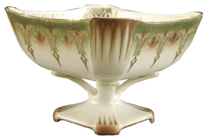Rs Germany Bowl Art Deco Decoration Square Reticulated Pedestal Base
