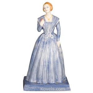 Vernon Kilns Figurine Bette Davis Blue Gown Janice Pettee C1940