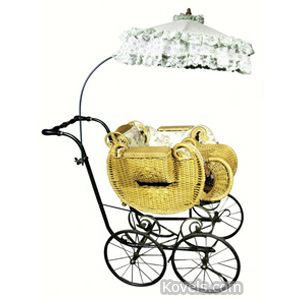 Carriage Baby Buggy Wicker Umbrella | Kovels' Price Guide