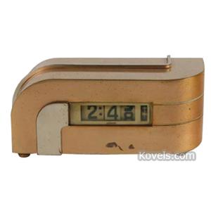 Clock Lawson Time Desk Zephyr KEM Weber c1934 | Kovels' Price Guide