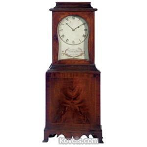 Clock Munroe Matthew Shelf Federal Mahogany Inlaid Concord Mass c1800 | Kovels' Price Guide
