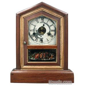 Clock Seth Thomas Shelf Walnut Gilt Trim Brass Works 30-Hour | Kovels' Price Guide