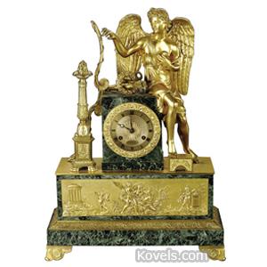 Clock Shelf Gilt Bronze Diana Cherubs Gravet Movement France 19th Century | Kovels' Price Guide