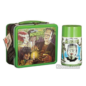 Lunch Box Universal Movie Monsters Frankenstein Dracula Metal Aladdin 1979