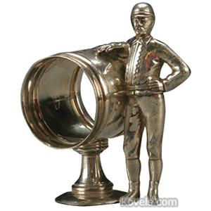 Napkin Ring Silver Plate Figural Jockey Meriden