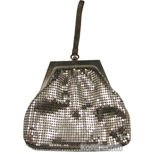 Purse Mesh Silver Loop Handle Whiting Davis