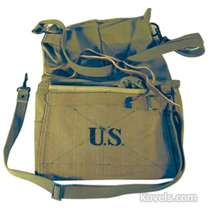 World War I Feed Bag Us Cavalry Green Straps Stenciled Us Pb Co