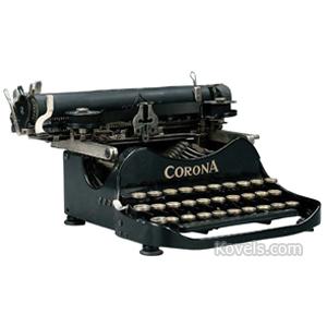Typewriter Corona Portable Folding Patent Date 1917