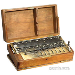 Typewriter Hall No 7555 Portable 1881