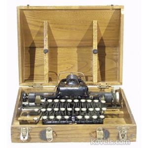 Typewriter Rem-Blick Original Wooden Case