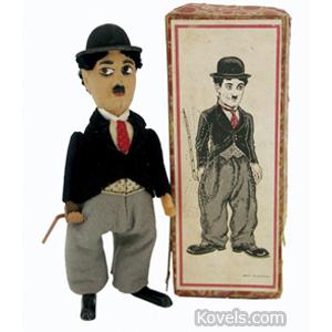 Charlie Chaplin Toy Walker Cane Spins Felt Clothes Windup Schuco Box | Kovels' Price Guide