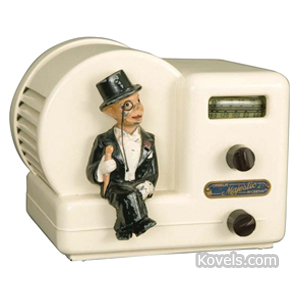 Charlie McCarthy Radio Charlie Sits On Edge Of Case Plastic Majestic c1938 | Kovels' Price Guide