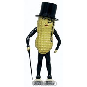Planters Peanuts Toy Walker Mr Peanut Plastic Windup 1950s