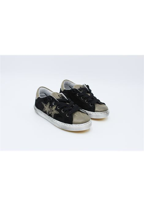 2 STAR | Sneakers | SNEAK077NERA-TORTORA