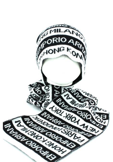 Cappello e sciarpa Armani ARMANI | Cappello | ARM407506NERO PANNA