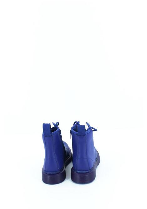 Anfibio Dottor Martens in pelle blu elettrico. DOTTOR MARTENS | Anfibio | ANF043BLU ELETTRICO