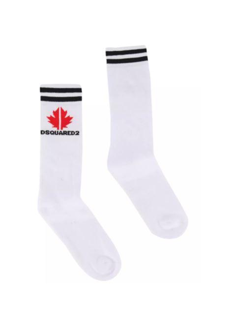DSQUARED2 | knee sock | DSQ455BIANCO