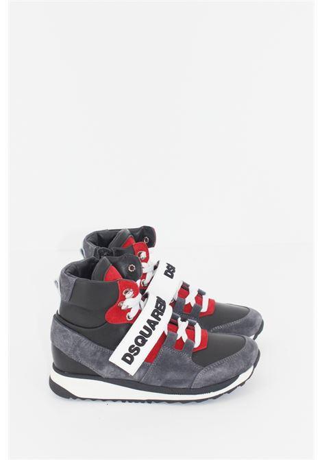 DSQUARED2   Sneakers   SNEAK029GRIGIA-ROSSA