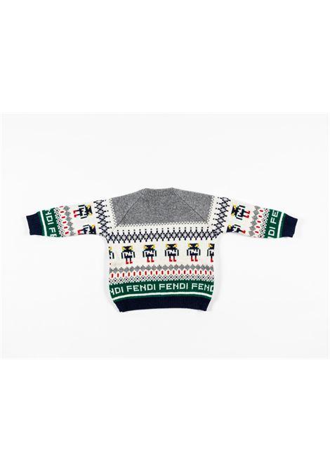 FENDI | wool sweater | FEN151GRIGIO