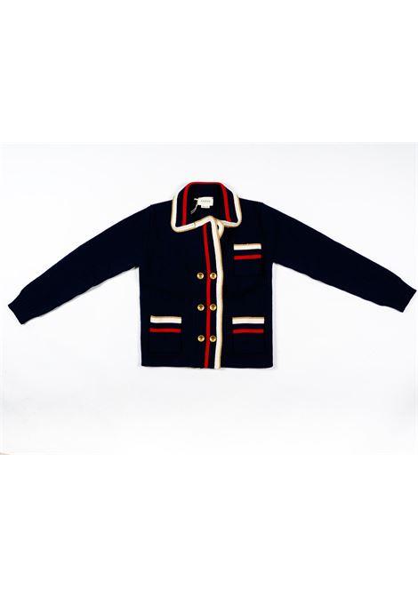 Cardigan lana Gucci GUCCI | Maglia | GUC258BLU