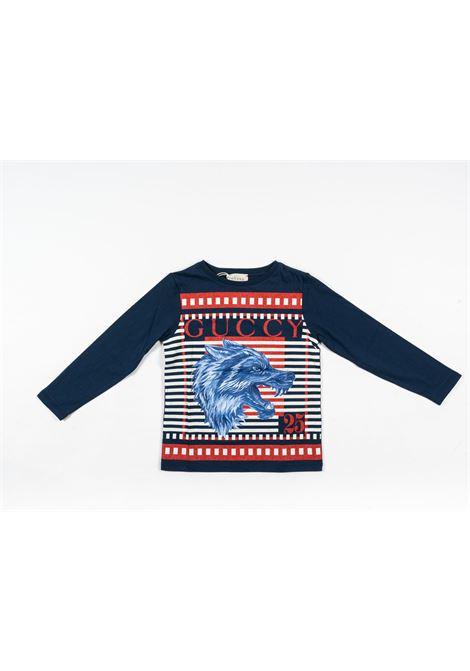 GUCCI   t-shirt long sleeve   GUC266BLU