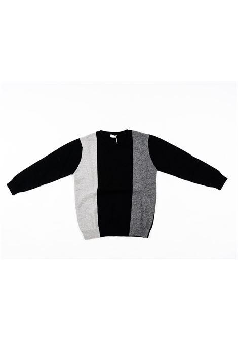 IL GUFO | wool sweater | ILG232GRIGIO NERO