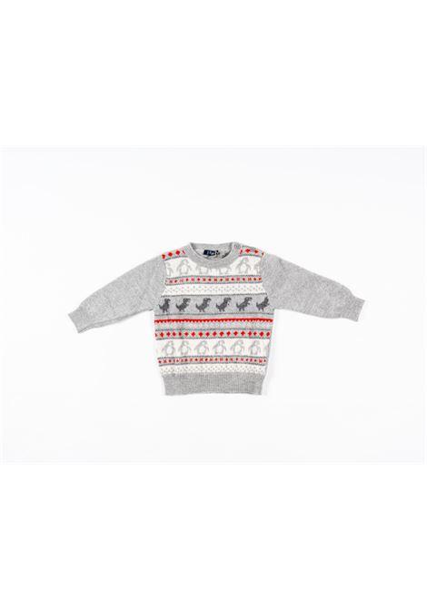 IL GUFO | wool sweater | ILG252GRIGIO FANTASIA