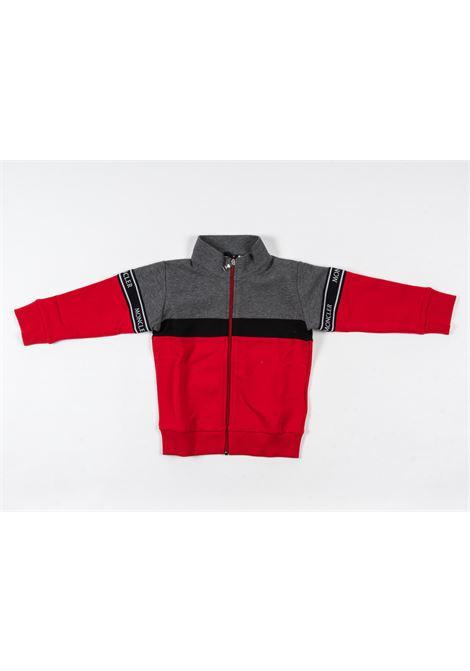 MONCLER   sweatshirt   MON189GRIGIO ROSSO