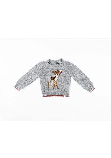 MONNALISA | wool sweater | MONN50GRIGIO
