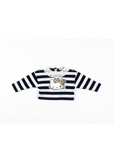 MONNALISA | wool sweater | MONN51RIGA BLU PANNA