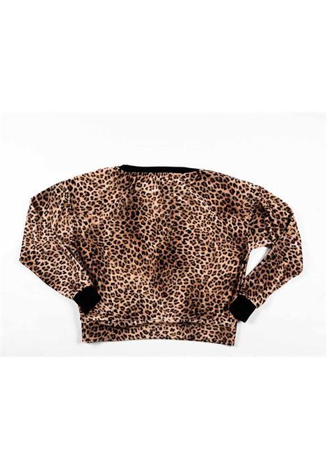 MONNALISA | wool sweater | MONN54NERO LEOPARDATO