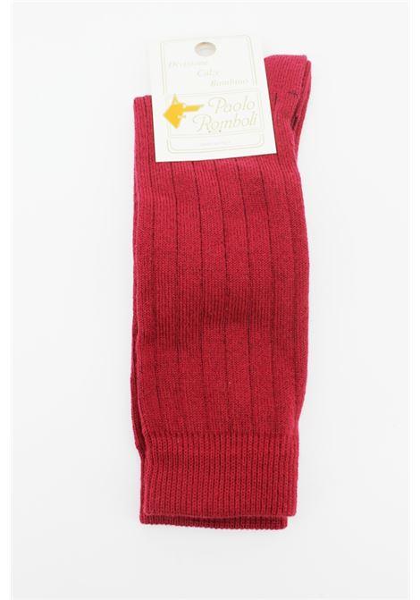 PAOLO ROMBOLI | knee sock | JAL56BORDEAUX