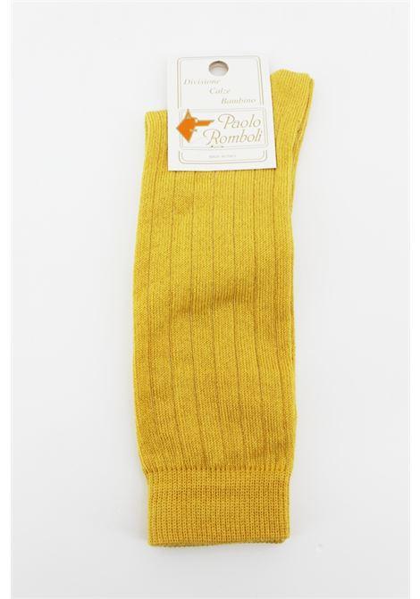 PAOLO ROMBOLI | knee sock | JAL56GIALLA OCRA