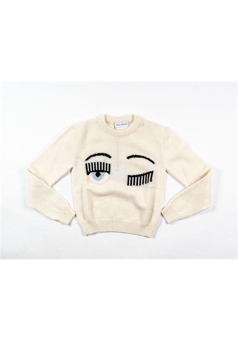 CHIARA FERRAGNI   wool sweater   FER19PANNA