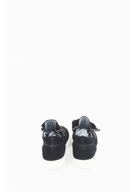 Sneakers Eureka in camoscio nero fiocco. EUREKA | Sneakers | SNEAK056NERA