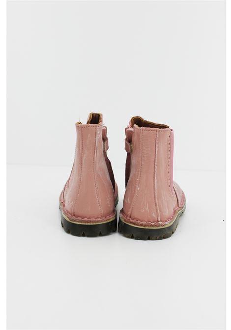 Tronchetto Eureka in pelle rosa con effetto vissuto. EUREKA | Stivale | STIV031ROSA