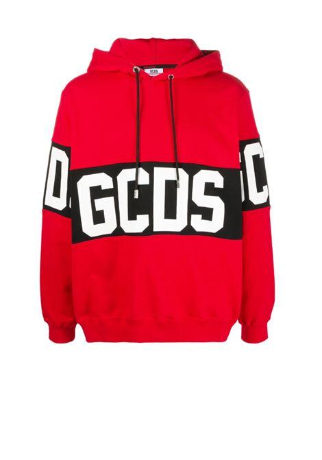 GCDS | sweatshirt | GCD021002ROSSO NERO