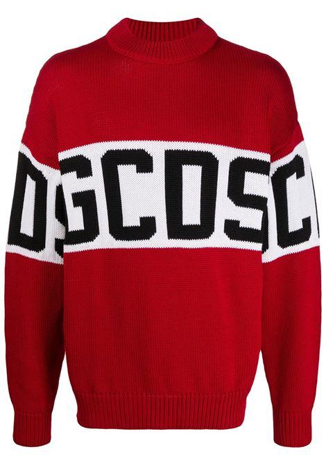 GCDS | wool sweater | GCD021114ROSSO NERO