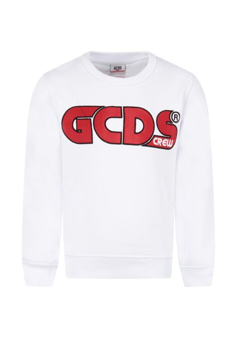 GCDS | sweatshirt | GCD107BIANCO