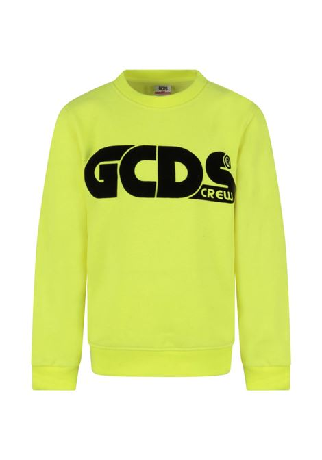 FELPA GCDS GCDS | Felpa | GCD144GIALLO FLUO